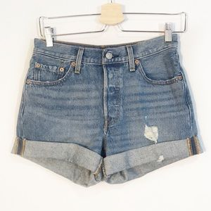 LEVIS'S 501 Distressed Jean Shorts